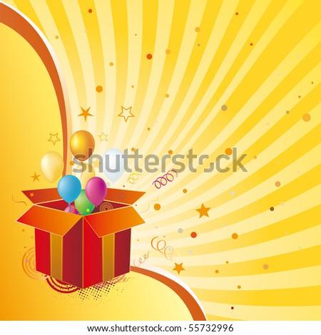 gift box,celebration design element - stock vector