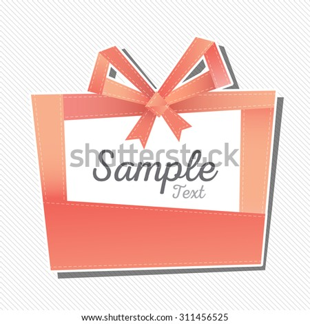 gift box frame illustration, vector