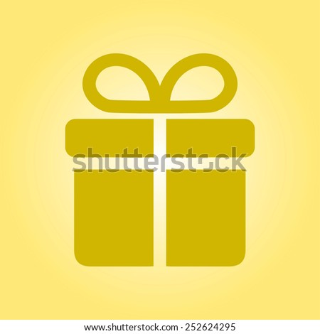 Gift box  icon. - stock vector