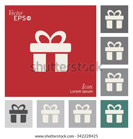 Gift box icon - vector, illustration. - stock vector