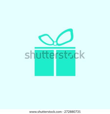 Gift box icon,  vector illustration. Flat design style.. - stock vector