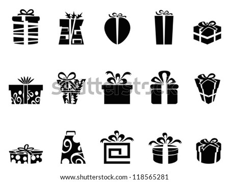 gift box icons - stock vector