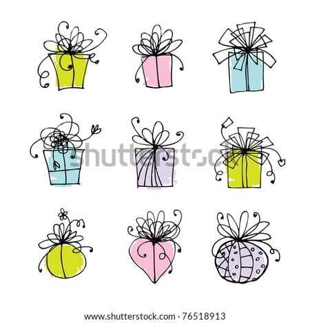 Gift box icons for your design - stock vector