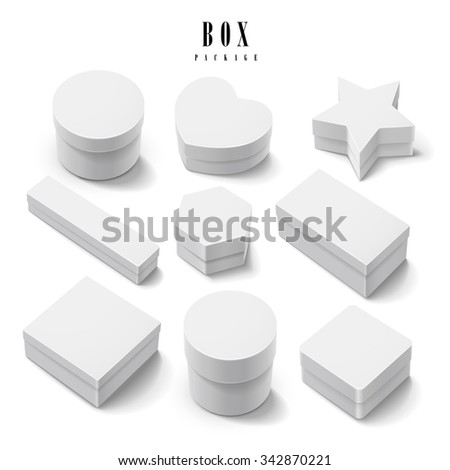 gift box package collection set isolated on white background - stock vector