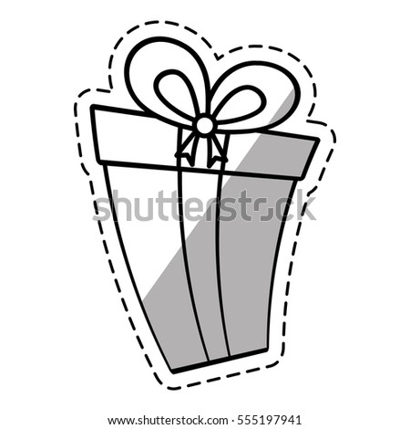 Gift Box Ribbon New Package Linea Stock Vector 555197941 - Shutterstock