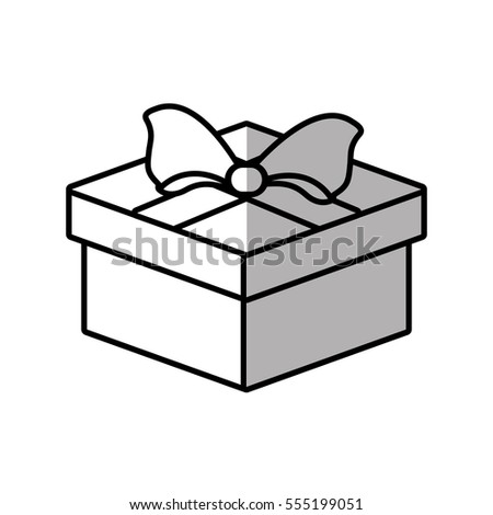 gift box ribbon valentine party shadow vector illustration eps 10