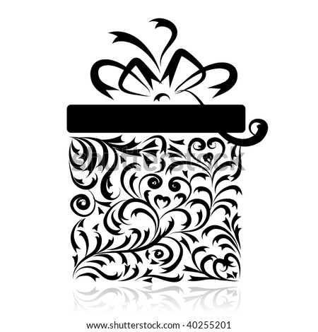 Gift box stylized for your design - stock vector