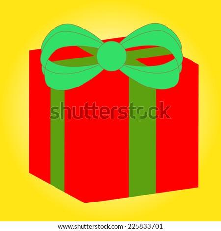 gift box vector - stock vector
