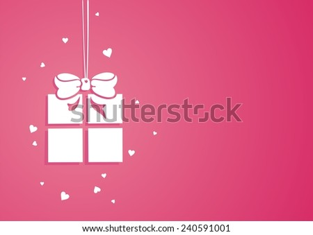 Gift box. Vector background. - stock vector