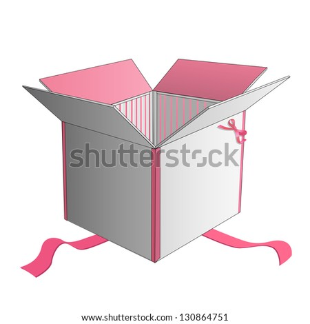 Gift box. Vector design. - stock vector