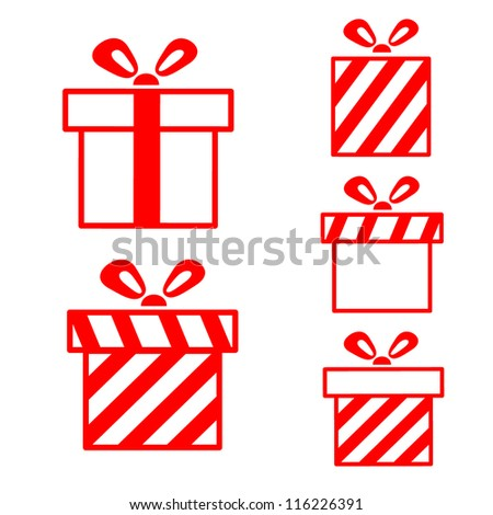 Gift boxes set - stock vector