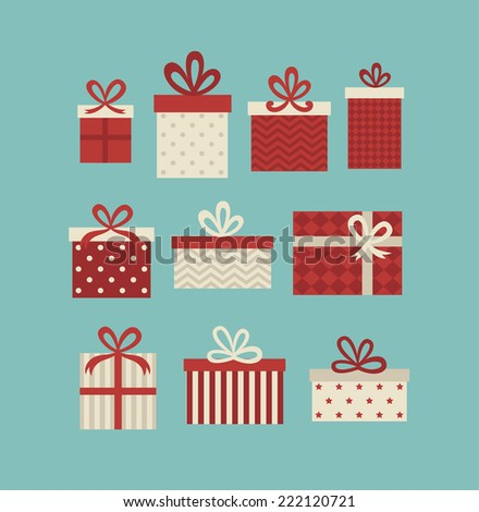 gift boxes set. vector illustration - stock vector