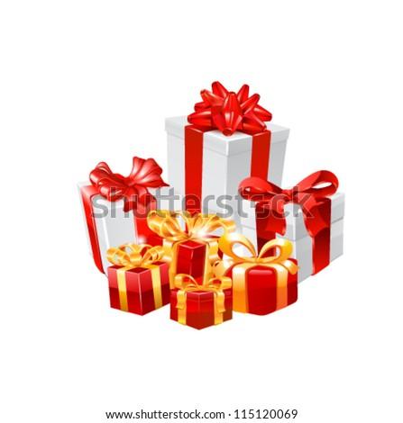 Gift boxes. Vector - stock vector