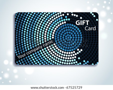 Gift Card - stock vector