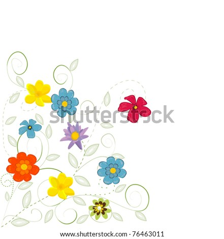 Gift card. Floral design background - stock vector