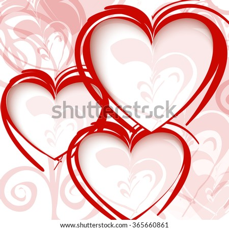 Gift card. Valentine's Day. Vector background - stock vector