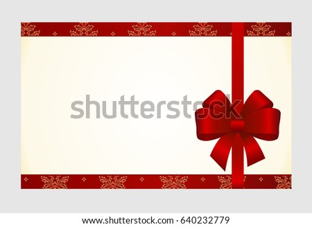 Voucher Gift Certificate Coupon Template Border Illustration – Present Voucher Template