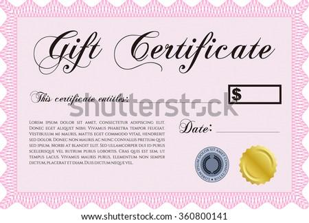 customizable gift certificate template