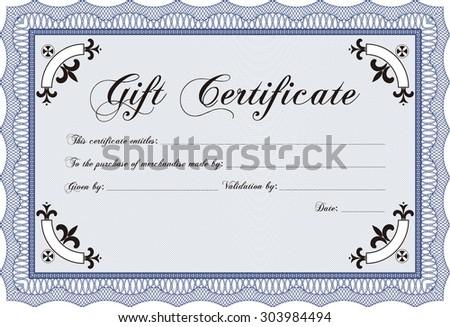 Gift Certificate Template Customizable Easy Edit Stock Vector