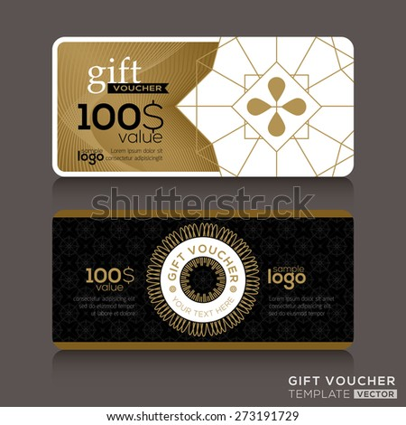 Gift certificate stock images royalty free images vectors gift certificate voucher coupon template with gold guilloche pattern negle Gallery
