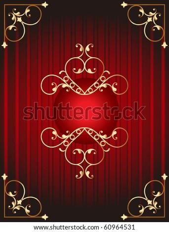 Gift Cover, Menu, Label background Design - stock vector