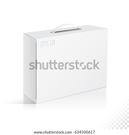 Gift craft box handle folding package stock vector 634500617 gift craft box handle folding package template fold pack negle Gallery