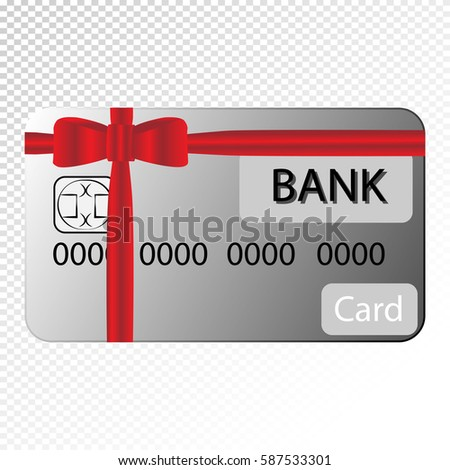 gift credit card on transparent background stock vector 587533301
