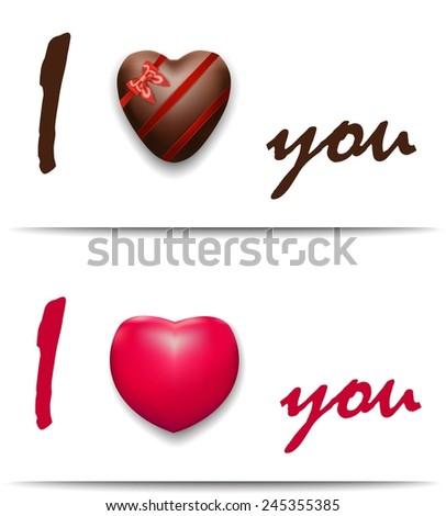 Gift for loved, heart - stock vector