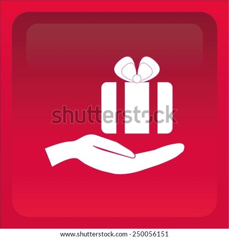 gift, gift wrap icon - stock vector