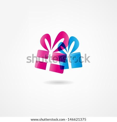 Gift icon - stock vector