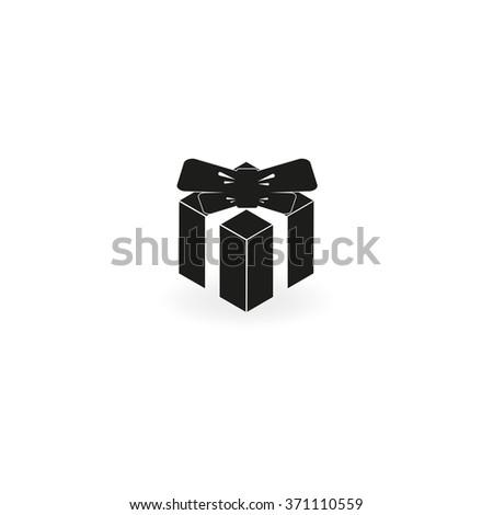 Gift illustration. Present icon. - stock vector