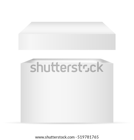 Gift in a box on a white background, vector