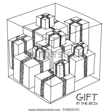 Gift in the box - stock vector