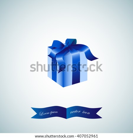 gift isolated, vector - stock vector