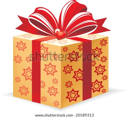 gift  on white background