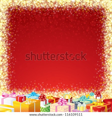 Gift or Sale Background for your Advertising Design and Text. - stock vector