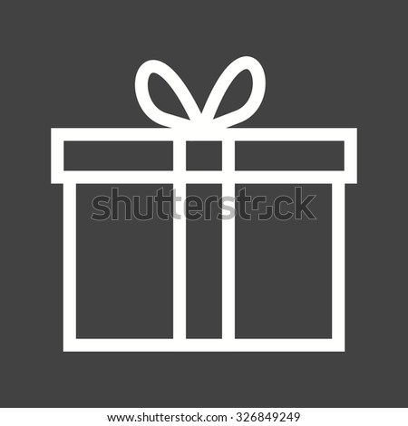 Gift, present, birthday icon vector image.Can also be used for easter, celebration, observances and holidays. Suitable for mobile apps, web apps and print media. - stock vector