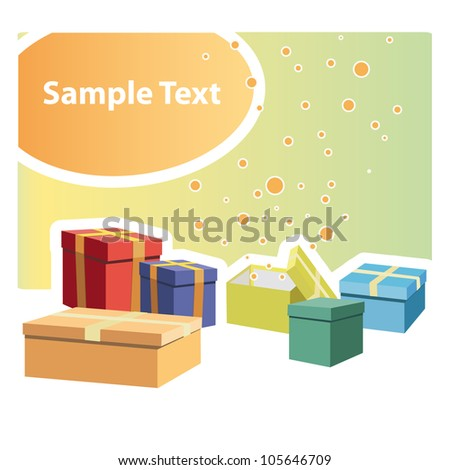 Gift set of many colors. Vector illustration. - stock vector