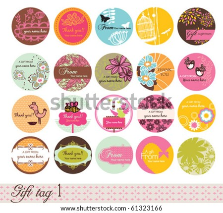 Gift tag 1 - stock vector