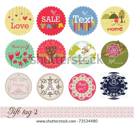 Gift Tag 2 - stock vector