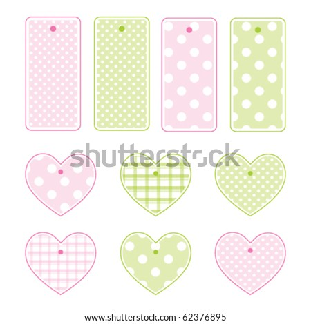 Gift tags - stock vector