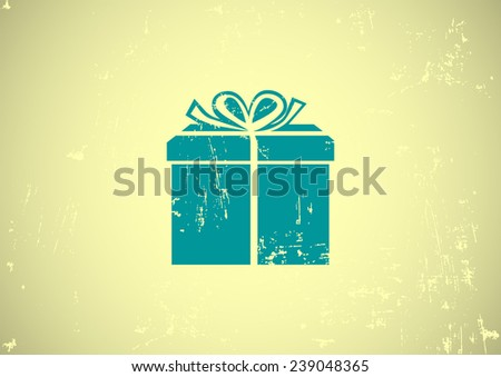 gift totally free web icon. vector design