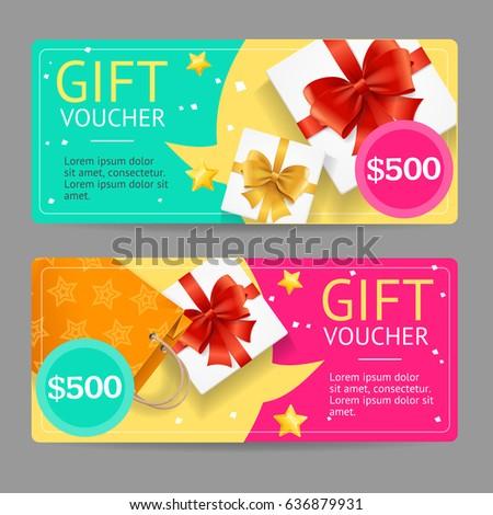 Gift Voucher Template Announcement Winning Vector Vector – Voucher Card Template
