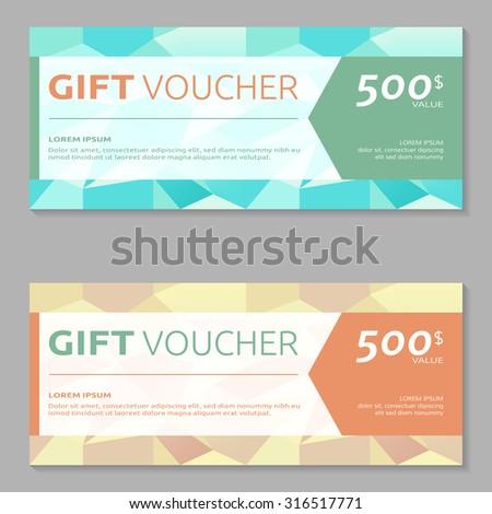 Discount Voucher Market Design Template Colorful Vector – Voucher Design