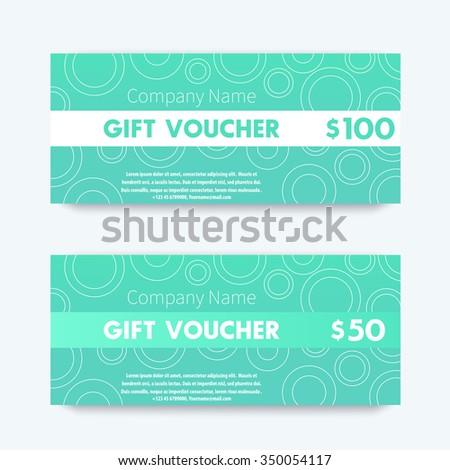 Gift Voucher Design Template Aquamarine Vector Vector – Voucher Design