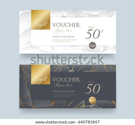 Gift Voucher Discount Template Luxury Pattern Stock Vector 640785847 ...