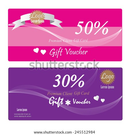 Gift Voucher Gift Certificate Coupon Template Stock Vector 245512984
