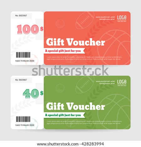 gift voucher gift certificate coupon templateのベクター画像素材