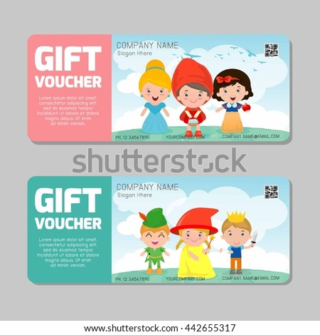 Gift voucher template modern pattern child stock vector 442655317 gift voucher template and modern pattern child concept voucher template with premium pattern yelopaper Image collections