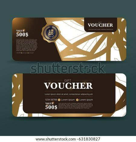 Gift Voucher Template Background Design Coupon Stock-Vektorgrafik ...